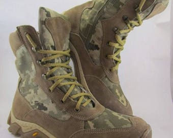 Army Tactic Boots Digital Pixel Comfort Leather and Cordura Combat Military shoes