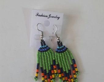 maasai earrings / beaded earrings