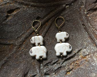 Wildlife Fundraiser Elephant Earring Personalize Family Gift Kwanzaa Lucky Charm Mother Father Daughter Son Cousin Friend Traveler Jewelry