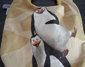 Bib 0/6 month pattern Penguin and sponge