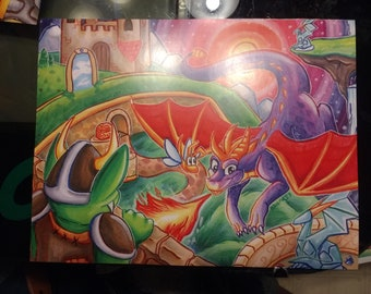 Spyro the Dragon Print 8.5x11