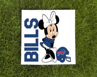 Minnie Mouse-Buffalo Bills-Team Logo-Vinyl Car Decal Football-Coffee Mug-Mac Book-Sticker