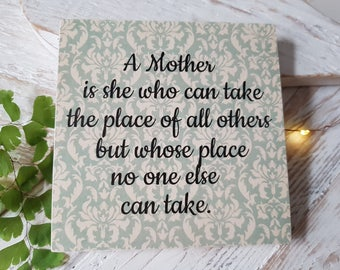 Handmade Wooden Sign. Printed Sign. Gift for her. Mum. Mothers. Home sign.