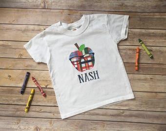 Preppy Plaid Apple Back to School Shirt