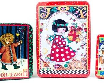 Three Mary Engelbreit Christmas Tins