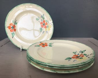 Pretty set of hand painted Booths Plates c.1910