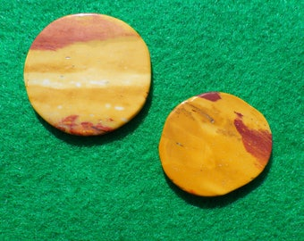 Mookaite Jasper set of two (one large, one small) golf ball markers