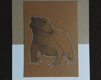 FROG | Illustration | Original | Drawing | Art | Print