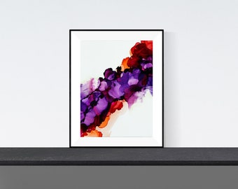 Alcohol ink print | Burst
