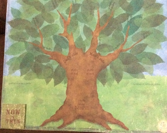 "FAMILY TREE 2 page handmade premade Scrapbook pages 12x12 ""Family Tree"""