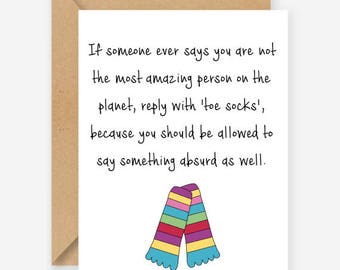 The most amazing person on the planet, funny greeting card, blank inside, recycled card