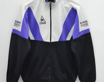 LE COQ SPORTIF Track Top Vintage 90's Le Coq Sportif Spell Out Colorblock Made In Japan Track Top Zipper Jacket Sweater Size L
