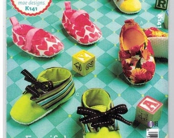 Ellie Mae K141 Fanciful Footwear Baby Booties Sewing Pattern New Uncut