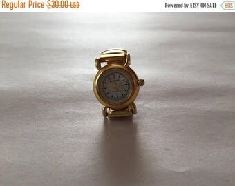 20% OFF SALE... vintage watch ring | elastic watch ring | golden watch ring