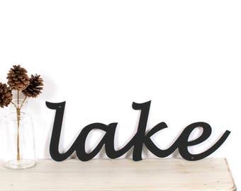 Lake Metal Wall Sign / Lake Sign / Lake House Decor / Cabin Decor / Lake Life / Lake Decor / Lake House Sign / The Lake Sign