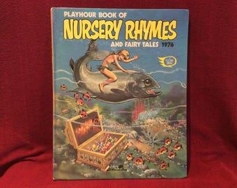 Fleetway Annual Playhour Book Of Nursery Rhymes And Fairy Tales 1976