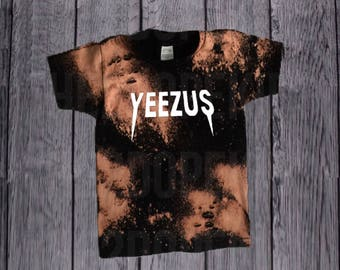 Distressed Bleached Yeezus Shirt Unisex Grunge