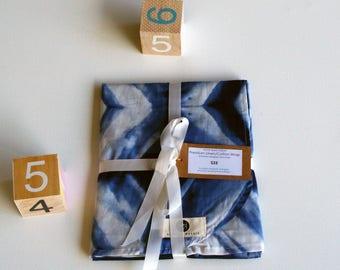 Shibori Hand Dyed Print Baby Wrap 100% Cotton