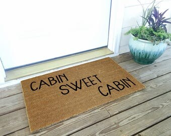 Cabin Sweet Cabin - Welcome Mat