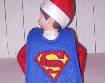 Super Guy Elf Cape Embroidery Design