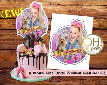JOJO SIWA cake topper, jojo siwa party supplies,jojo siwa party,jojo siwa birthday, jojo siwa printable, jojo siwa birthday, jojo siwa, jojo