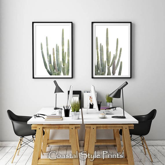 Desert Cactus Prints Wall Decor Botanical Print Art Nursery Succulents Australia
