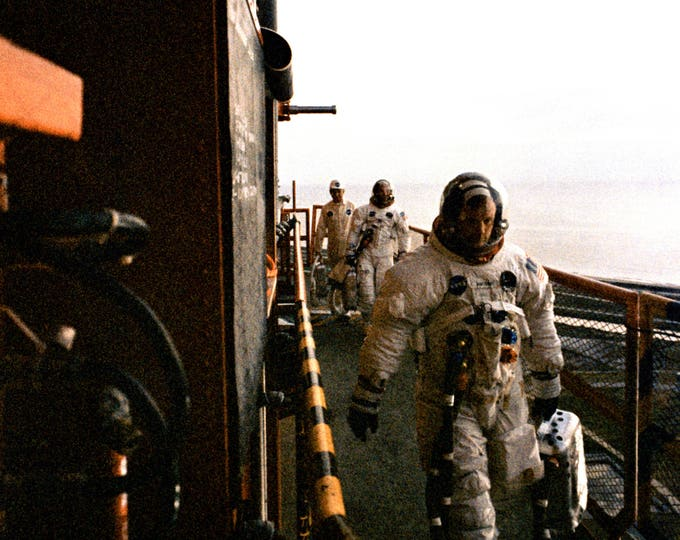 Apollo 11 Astronauts Arrive at Pad 19 - 5X7, 8X10 or 11X14 NASA Photo (AA-598)