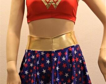 2PC Wonder Woman (top and skirt set)