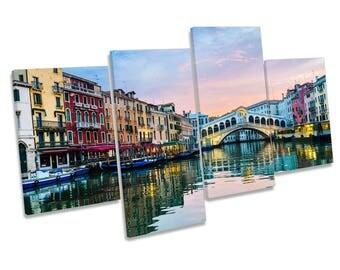 Rialto Bridge Venice Italy Multi CANVAS WALL ART Boxed Print Picture