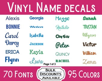 Vinyl Name Decal / Name Sticker / Name Decal / Water Bottle Decal / Yeti Decal / Tumbler Decal / Ozark Trail Decal / CamelBak Decal