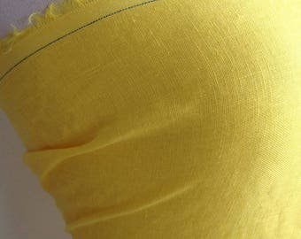 Yellow linen Haute Couture - 90cm x 140cm