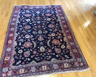 Persian rug vintage 4.4x6.0 washed clean
