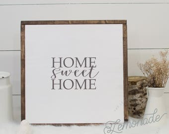 Home Sweet Home Sign - Wooden Sign - Home Decor - Signs