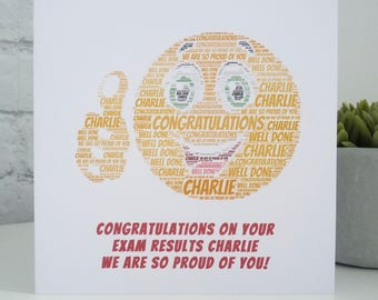 Personalised Exam Congratulations Card, Personalised Thumbs Up Card, Congratulations on your Exam Results, Exam Success Card