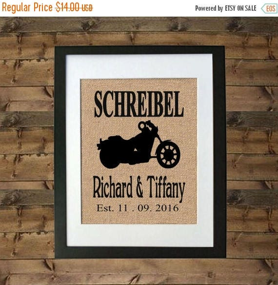Wedding Gift Sale: ON SALE Personalized Motorcycle Gift Motorcycle Wedding Gift