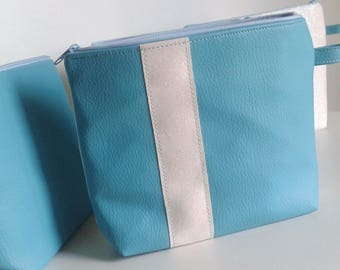 or small purse glittery white, turquoise and Star
