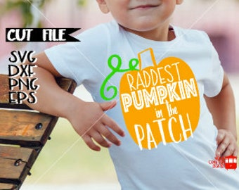 Pumpkin Svg File - Fall Svg File - Halloween Svg File - My First Halloween Svg File - Raddest Pumpkin in the Patch Svg - My first Halloween