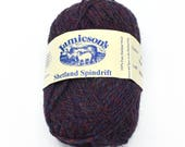 Yarn for Sweaters - Yarn Lot - Jamiesons Spindrift - Purple Yarn - Shetland Wool - Yarn for Sale - Knitting Wool - Fair Isle - Knitting Yarn