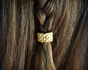 Luxe Hair Bead Kit Bead viking hair bead Steampunk tribal silver Celtic hair bead goth viking jewelry STAINLESS STEEL