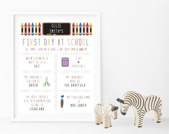 First Day at School/Preschool Memory Print