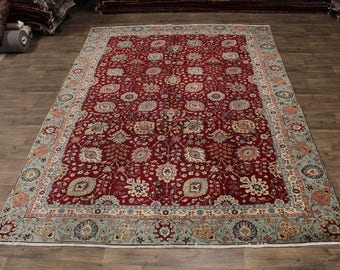 Enchanting Allover Floral Handmade Tabriz Persian Rug Oriental Area Carpet 9X13