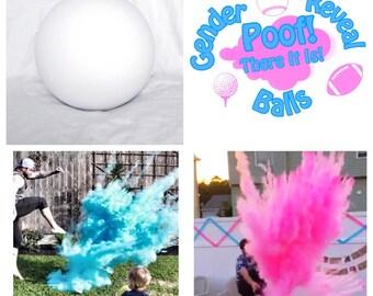 """6.25"""" SOCCER BALL Gender Reveal Ball Pack (Custom Combinations)"""