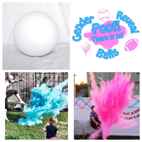 "6.25"" SOCCER BALL Gender Reveal Ball Pack (Custom Combinations)"