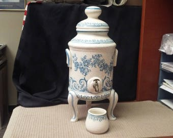 Spanish Samovar & cup (ceramic) made by Benlloch Espana Pottery in 1940s maybe earlier