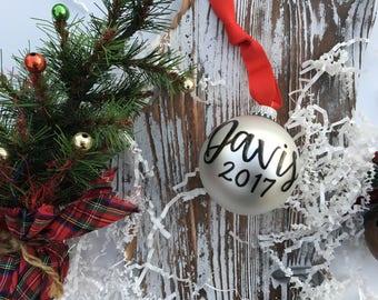 Custom Family Name Christmas Ornament | Last Name and Year Established | New Family Christmas Ornament | Wedding Gift | First Christmas