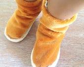 Velvet Mustard huggy boots for Sasha Doll Mode Autumn Winter 2017
