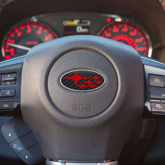 Carbon Fiber Peel N' Stick Subaru Overlay Steering Wheel