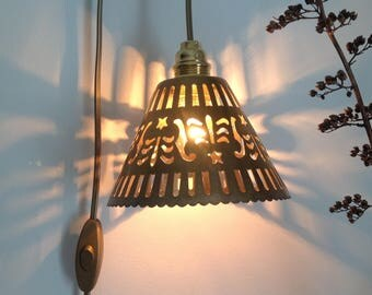 Wandering lamp brass