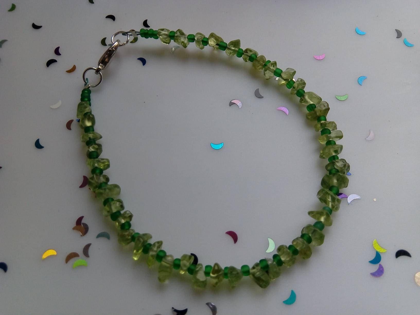 Peridot Gemstone Bracelet Leo Birthstone August Birthday Gift For