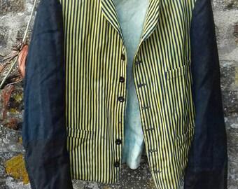 veste rayée en «Belle Jardiniere Paris» des années 1920